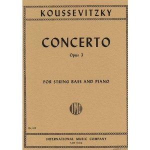 Koussevitzky, Serge - Concerto, Op. 3 - Bass and Piano - edited by Fred Zimmermann - International